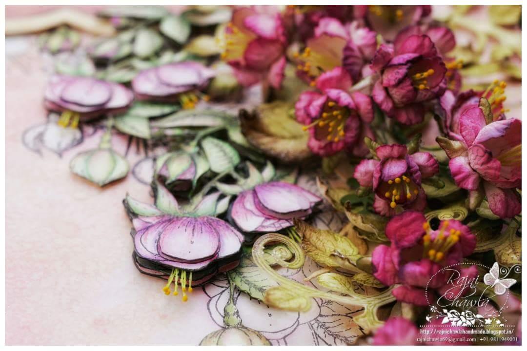Cascading Fuchsias by Heartfelt Creations