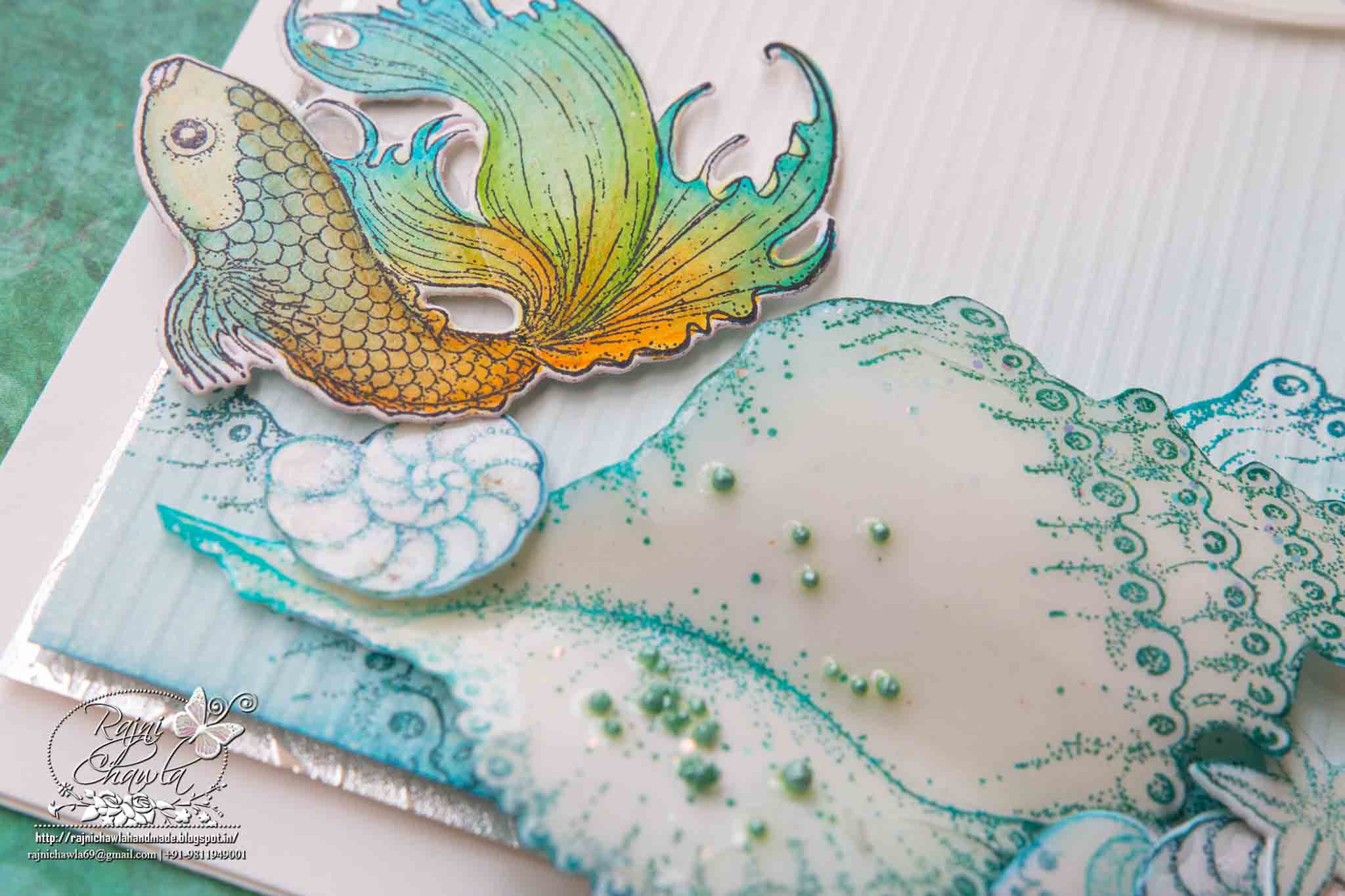 White and Teal Sea Life: Card using Under the Sea Collection