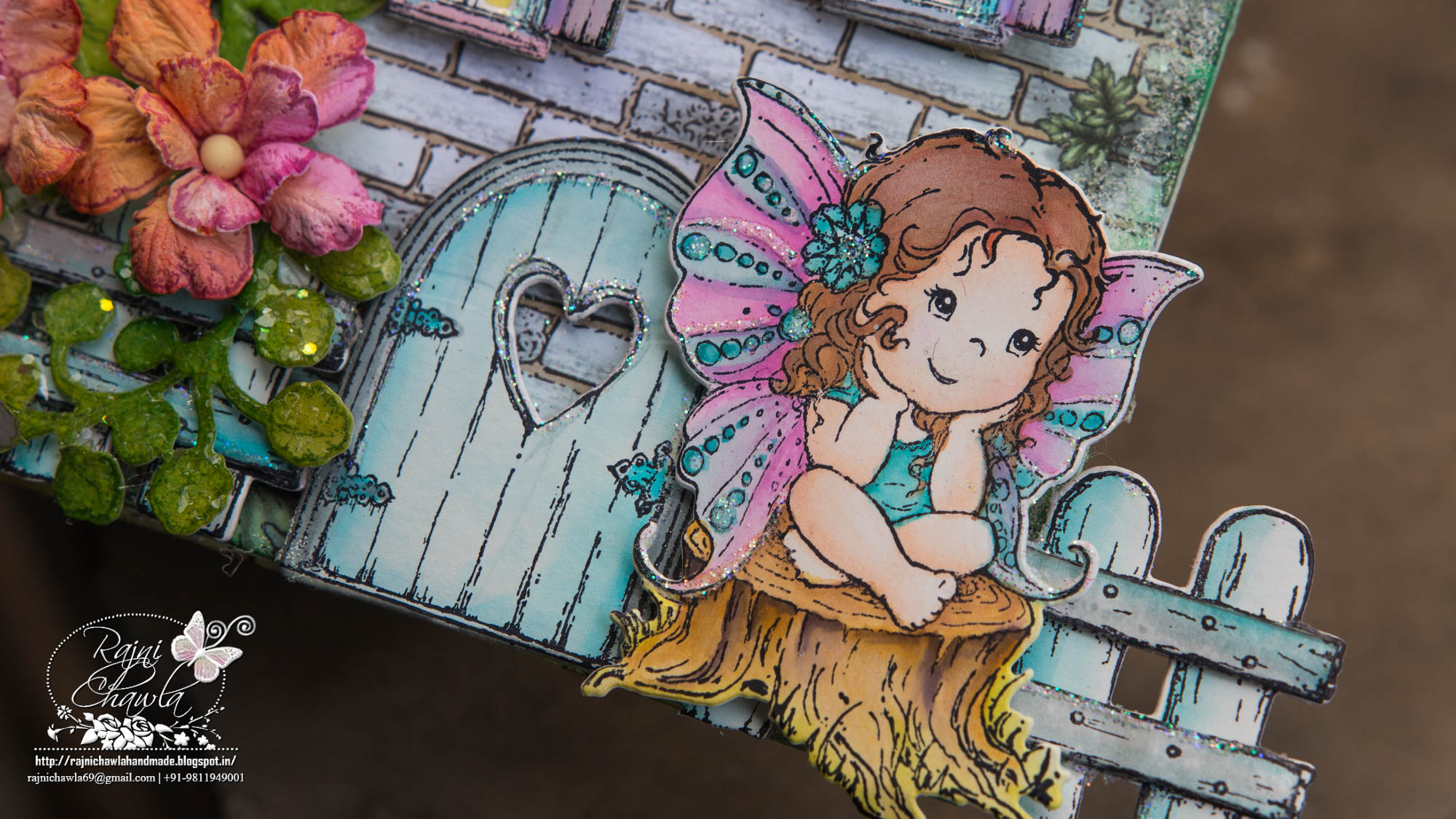 Fairy Land Shadow box ( Debuting Wildwood Cottage Collection)