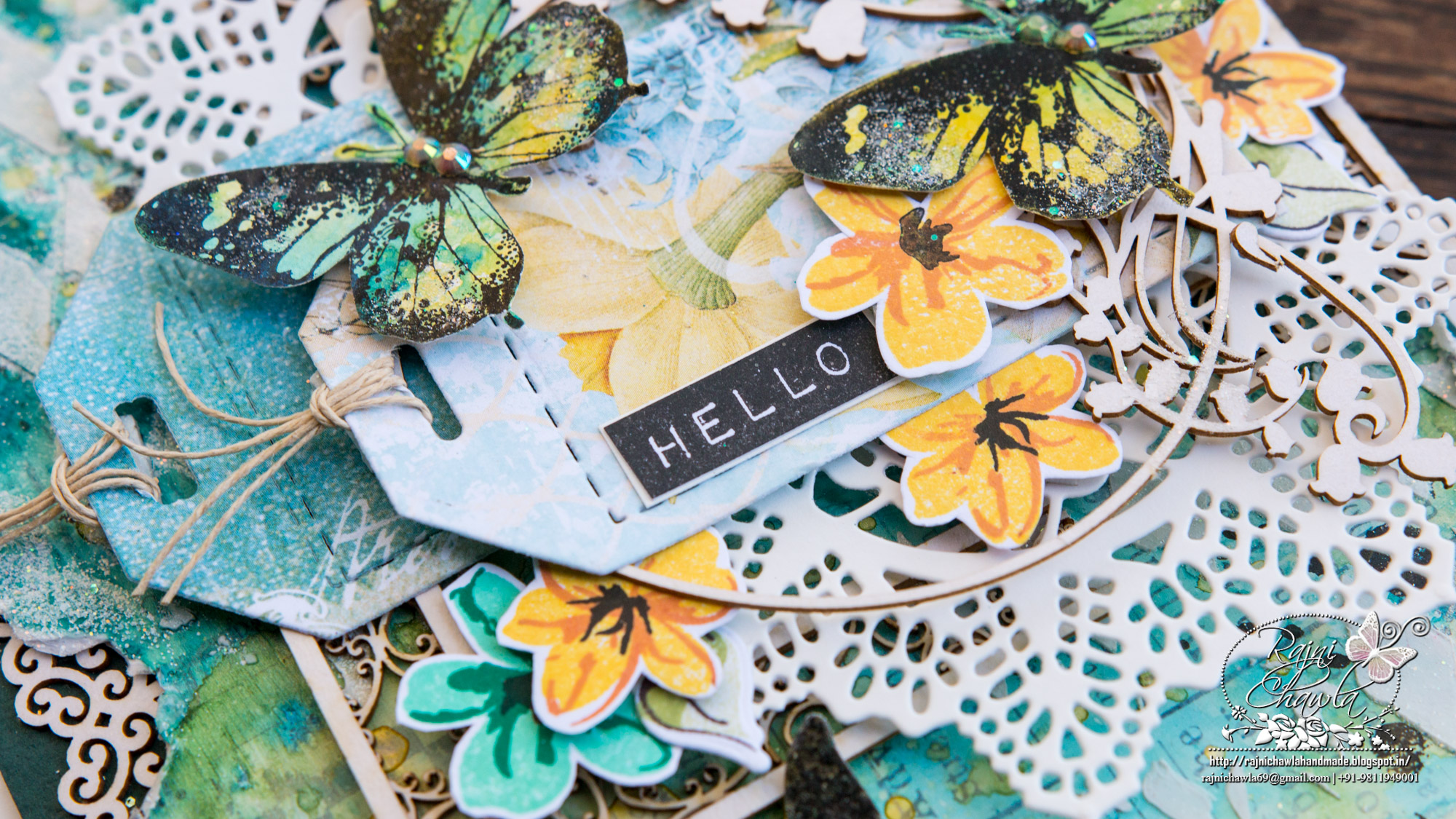 Hello Spring Card For Scrapiniec