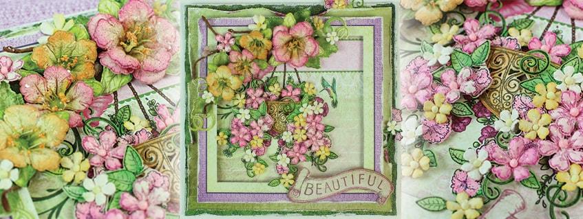 Humming Bird and Petunia Basket ( Debuting Classic Petunia Collection)