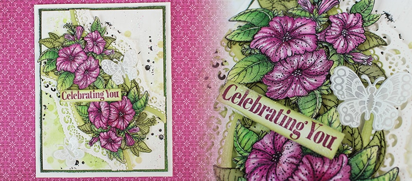 Petunia Splash Card using Classic Petunia Collection