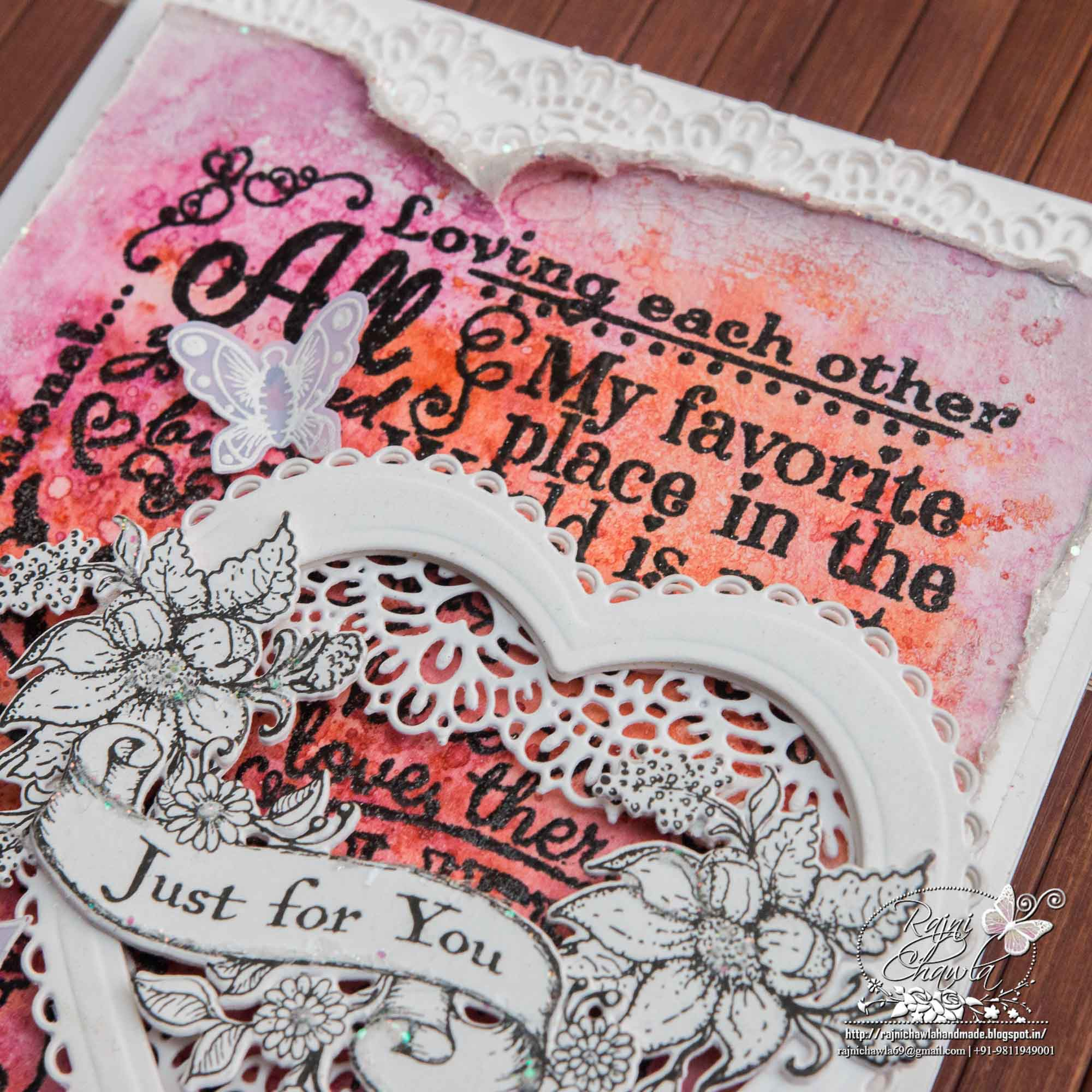 Just For You and Love Card (Debuting Heartfelt Love Collection)