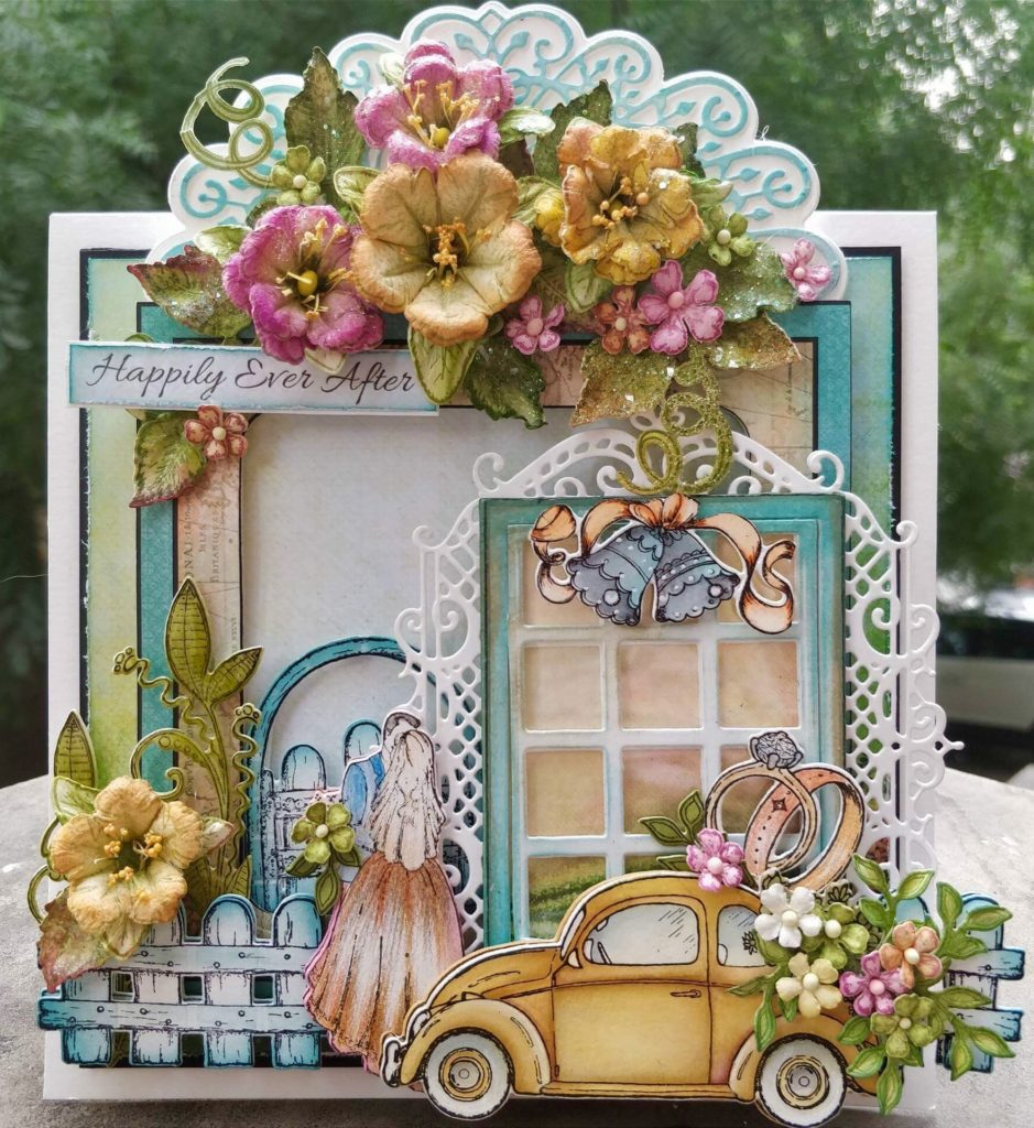 Heartfelt Creations WE Window Frame Cling HCPC-3794